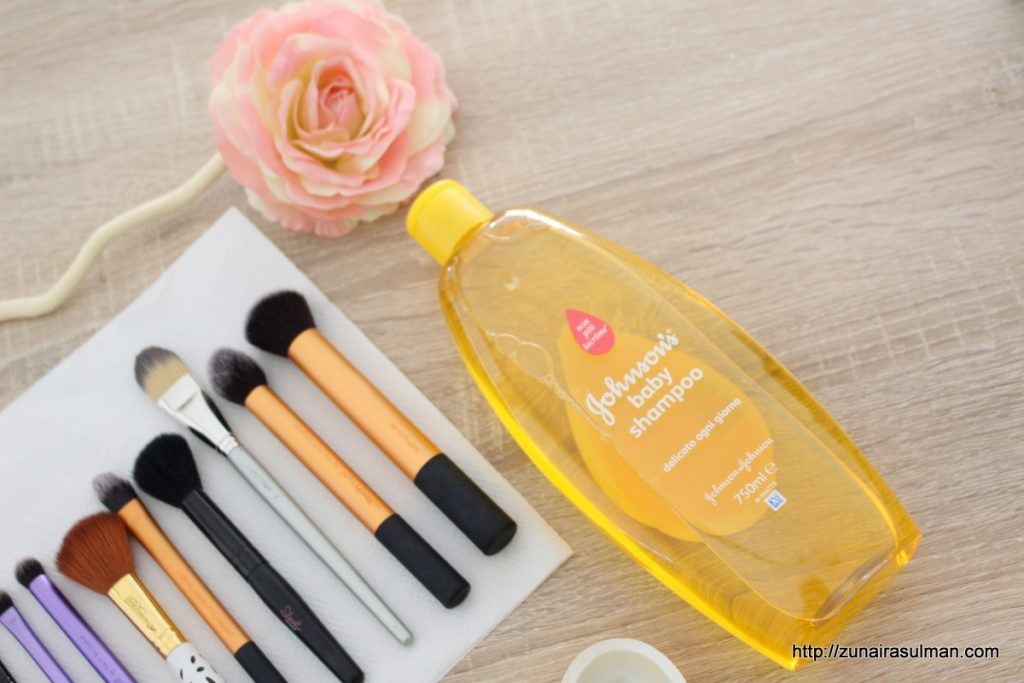shampoo-as-brush-cleaner