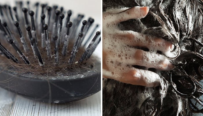 Cleaning hacks Use your shampoo to clean hair brush
