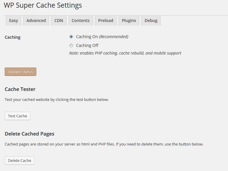 wp super cache wordpress plugin