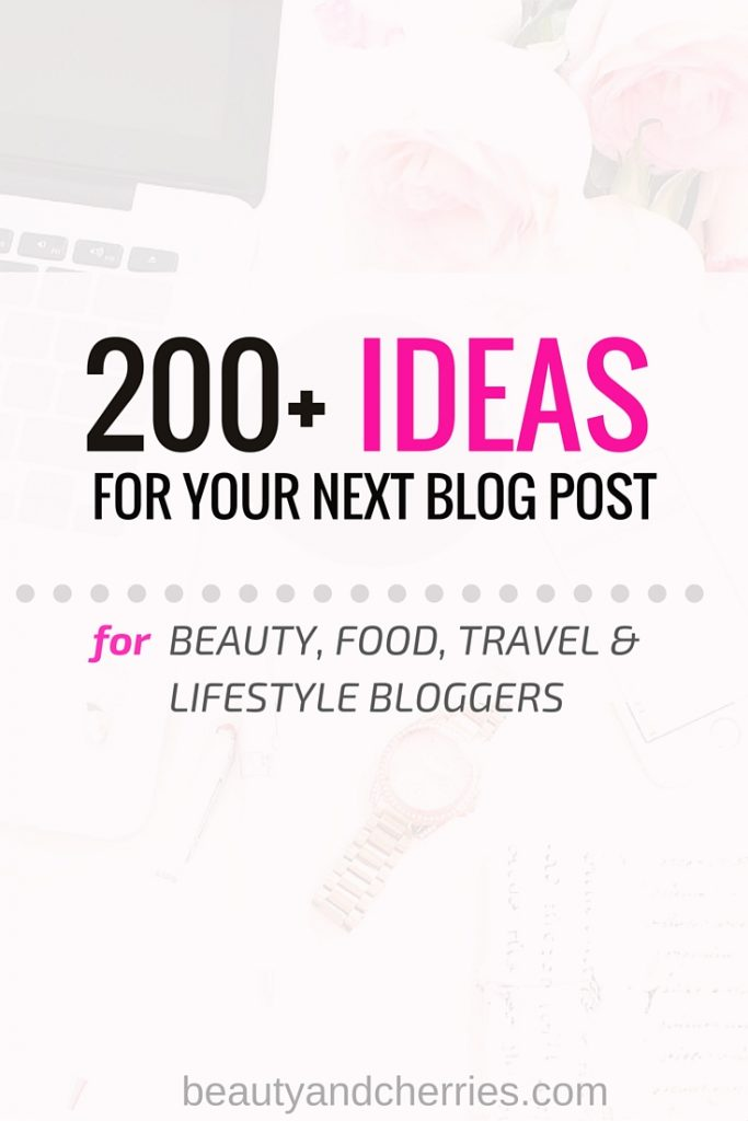 ideas for blog post