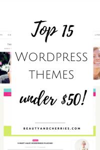 15 WordPress Themes Under 50 Dollars