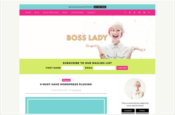 Boss Lady WordPress Themes