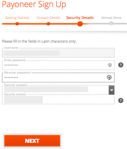 payoneer-security-details-sign-up