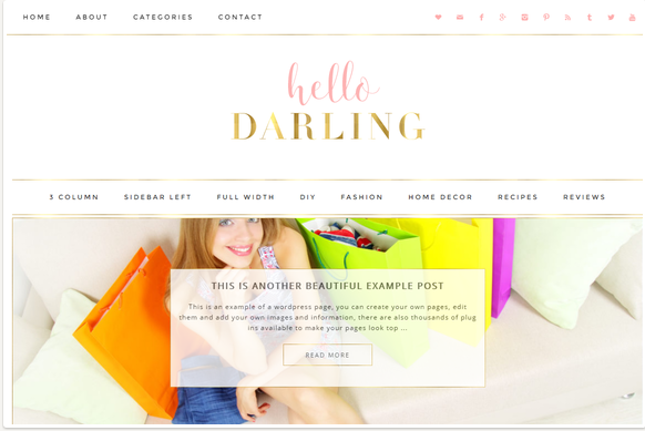 darling WordPress themes