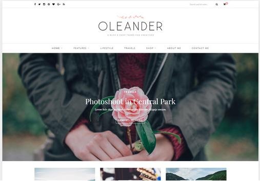 oleander-wordpress-theme