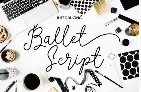 ballet-fonts-script