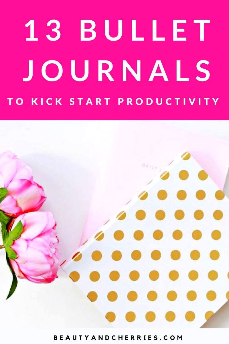 Kick Start Your Productivity with these 13 Insanely Pretty Bullet Journals! Make productivity a fun way today!