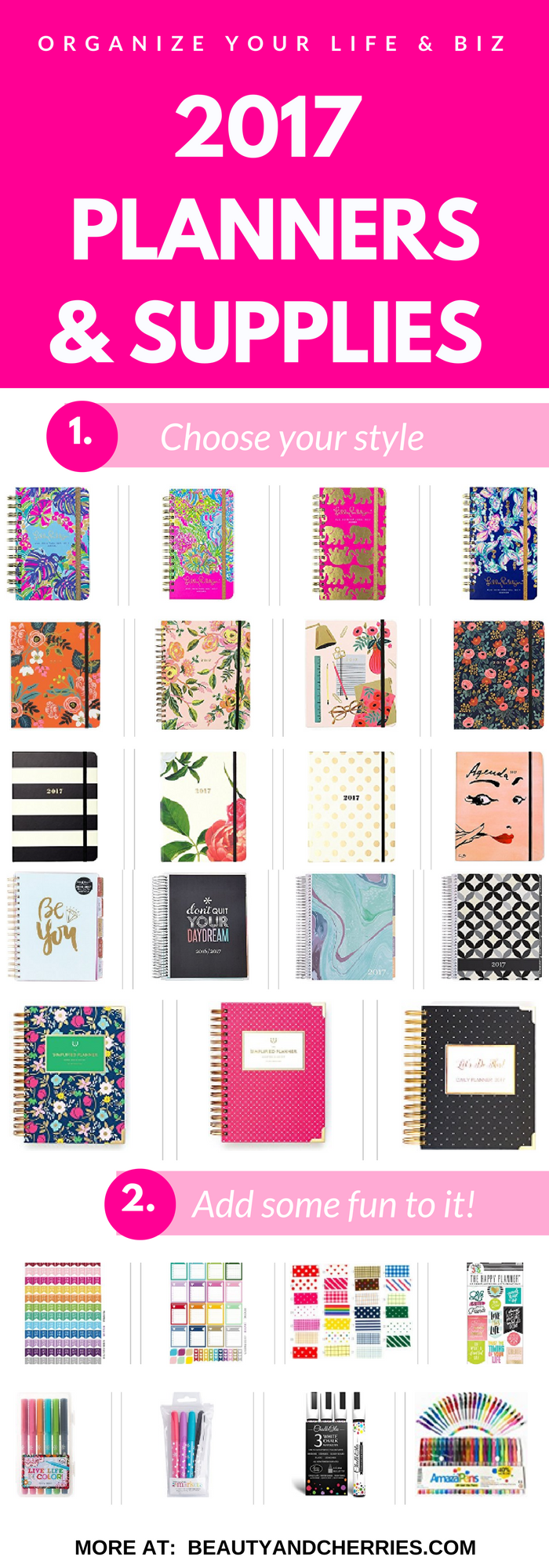 2017 planners and supplies to organize your life