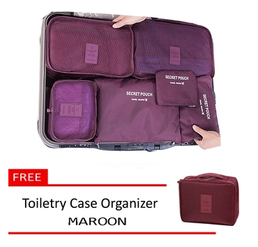 6-in-1-travel-luggage-bag-clothes-organizer-maroon-free-multi-pouch-maroon