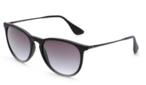 Ray-Ban Chris RB4187 622:8G Sunglasses (Black Rubber)