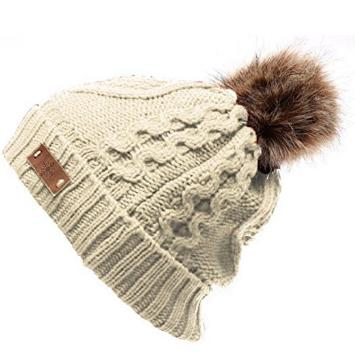 womens-faux-fur-pom-pom-fleece-lined-knitted-slouchy-beanie-hat
