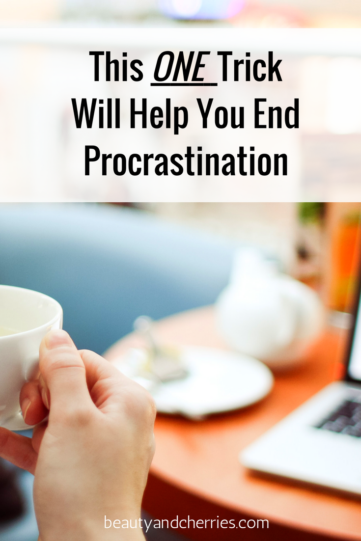 The One and Simple Trick To End Procrastination and Start Taking Action by Mel Robbins