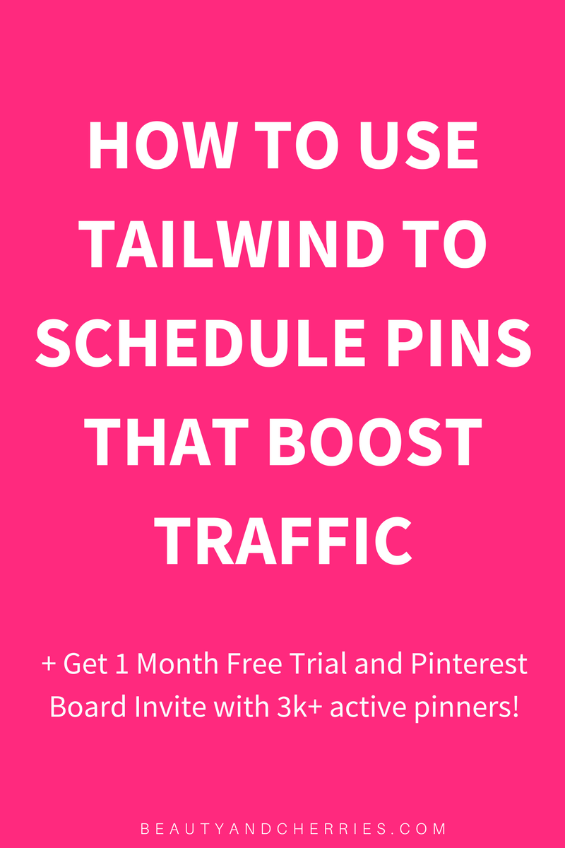 Click through to know how to use Tailwind App to schedule pins that boost traffic ....