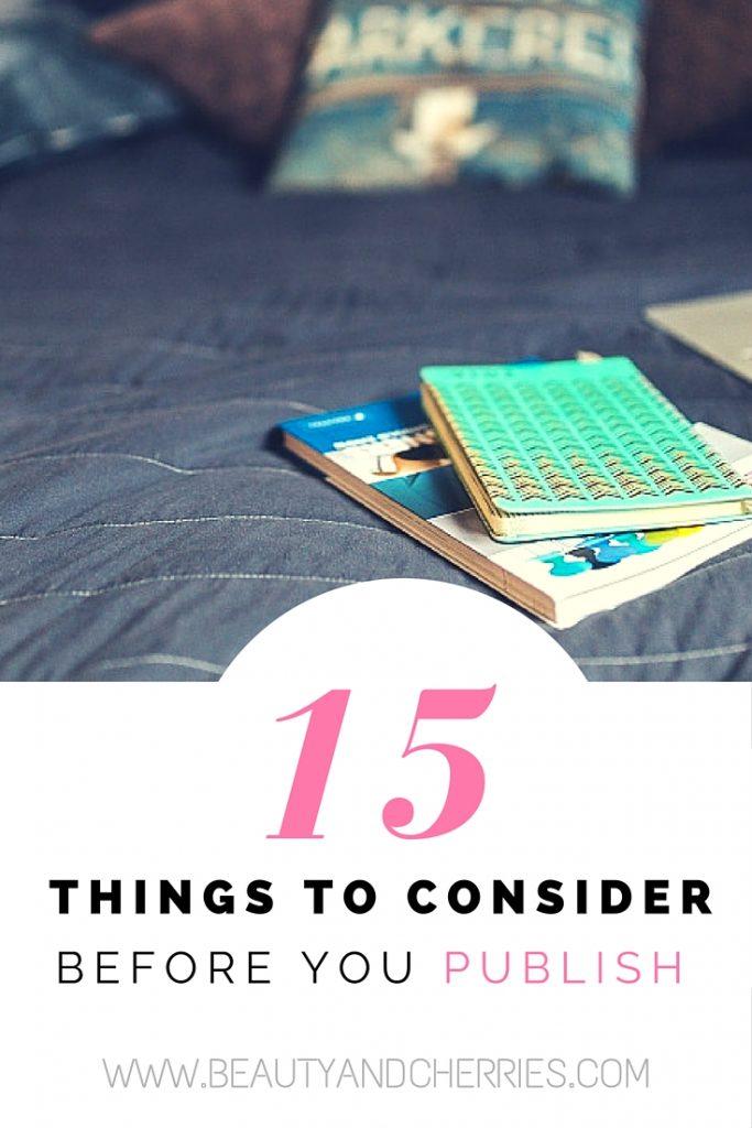 blogging do's before publish checklist