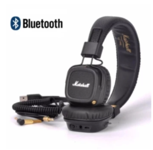 Marshall Professional Major II Bluetooth Headphones Wireless Headset Foldable with Built-in Microphone and Remote Second generation 2