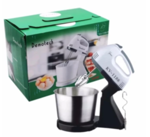 Speed Stand Mixer with Stainless Bowl