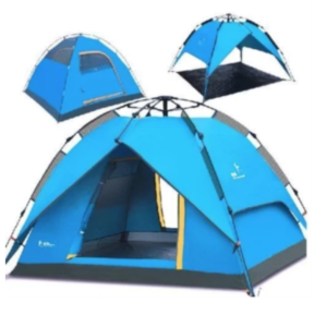 Waterproof Automatic Outdoor 4 Person Double Layer Instant Camping Family Tent in Lazada