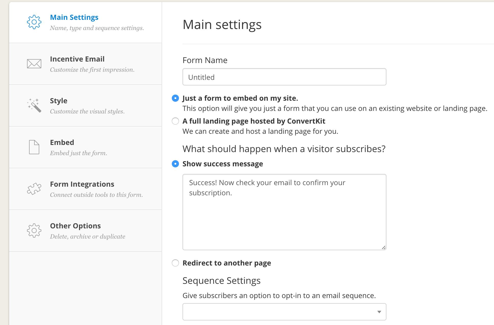 convertkit_create_form_settings